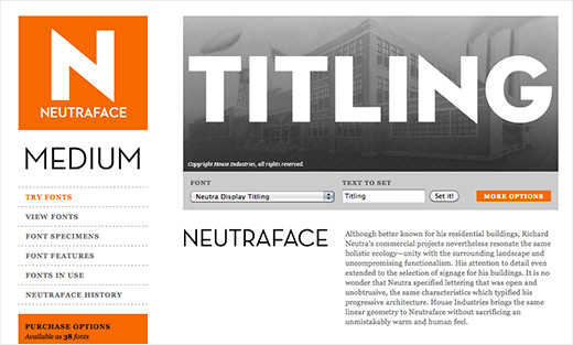 Neutraface Display Titling