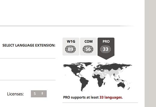 Linotypeでは対応する言語を分かりやすく切り替えることができる
