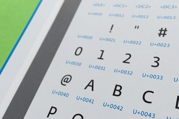 """例えばアルファベットの""""A""""には""""U+0041""""が振り分けられている。"""