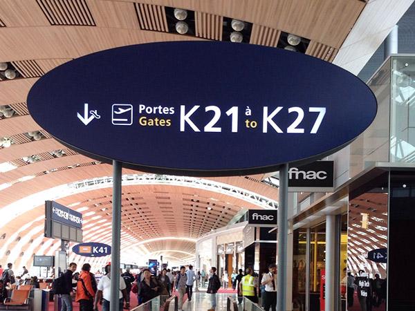 フランスのシャルル・ド・ゴール空港
